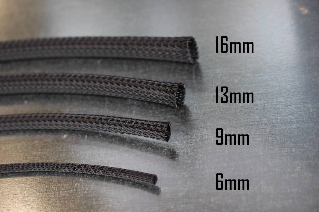 16mm Expandable Black Braid