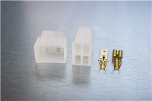 6.3mm 4-pin Non-Latching M/F Nylon Connector